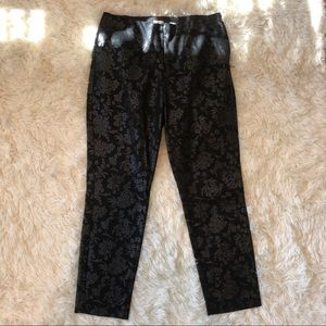 Black Patterned Business Slacks